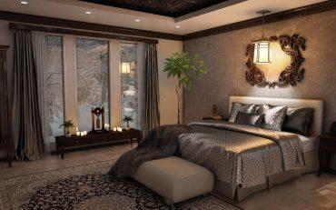 donkere slaapkamer inrichten